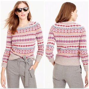 J.Crew Holly sweater in Fair Isle sz M